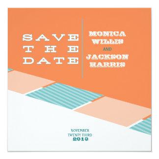 Santa Monica Save the Date:  Orange Crush Personalized Invitations