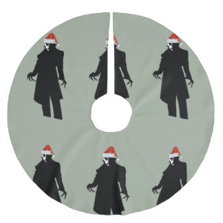 santa nosferatu xmas christmas tree skirt