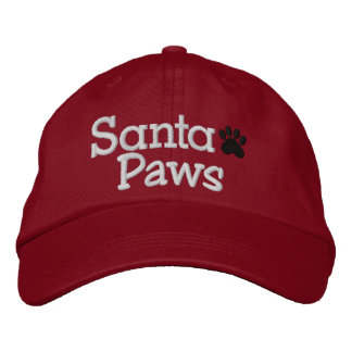 SANTA PAWS - SRF EMBROIDERED BASEBALL CAPS