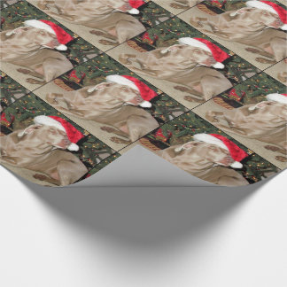 Santa Paws - Weimaraner Style - (1079) Wrapping Paper