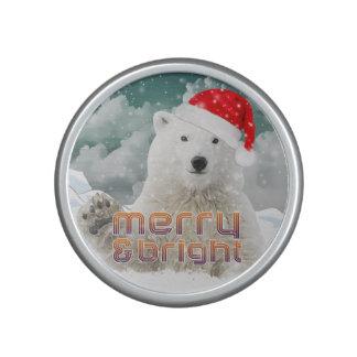 Santa Polar Bear   Beary Christmas Speaker