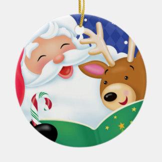 Santa Reading Ornament