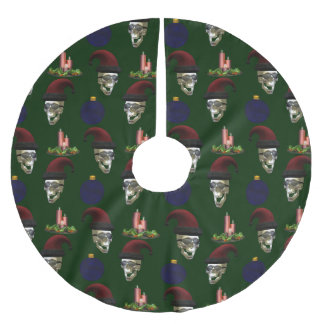 Santa Skull Brushed Polyester Tree Skirt