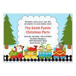 Santa Train Christmas Party Invitation