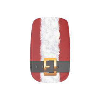 Santa's Belt festive look for the Holidays Minx Nail Art