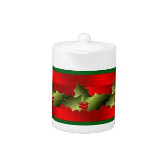 Santa's Bricks and Mistletoe on Teapot