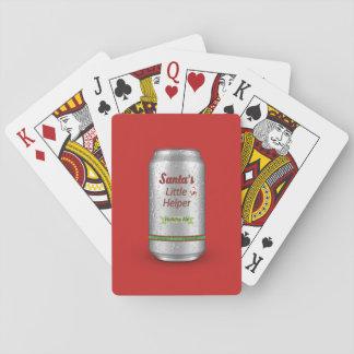 Santa's Little Helper Beer Can Poker Deck