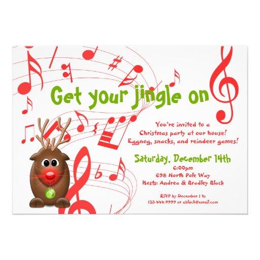 Santa's Reindeer Christmas Party Invitation