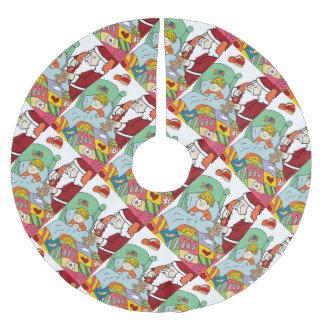 Santa's Visit Brushed Polyester Tree Skirt