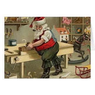 santas workshop Christmas_Card Card