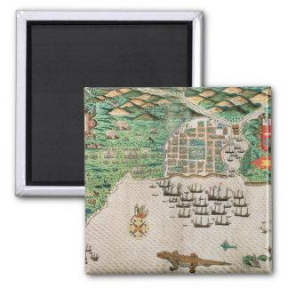 Santiago, Cape Verde, 1589 2 Square Magnet