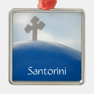 Santorini Cross in the Afternoon Sun Christmas Ornament