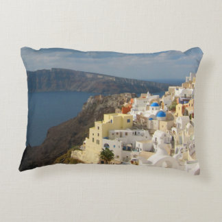 Santorini in the Afternoon Sun Decorative Cushion