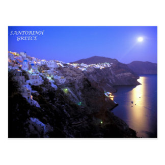 SANTORINI NIGHT POSTCARD