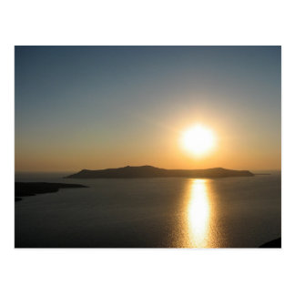 Santorini Sunset, The Greek Islands - Postcard