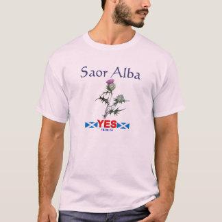 Saor Alba Free Scotland Gaelic Yes Thistle T-shirt