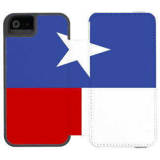Sapphire Blue and Red Texas Flag Incipio Watson™ iPhone 5 Wallet Case