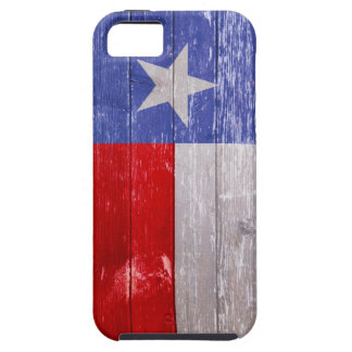 Sapphire Blue and Red Texas Flag Painted Old Wood iPhone 5 Covers