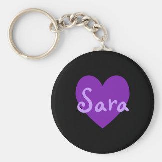 Sara in Purple Key Ring