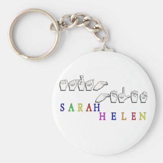 SARAH HELEN FINGERSPELLED NAME SIGN KEYCHAIN