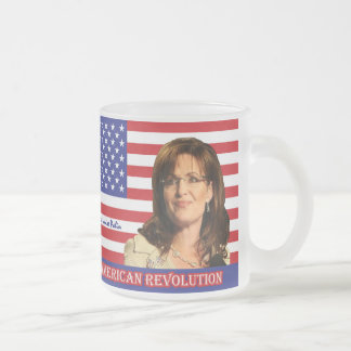 Sarah Louise Palin Frosted Glass Coffee Mug