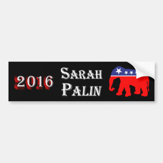 Sarah Palin 2016 - All American Elephant Bumper Sticker