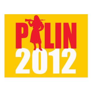 Sarah Palin Firearms white Post Card