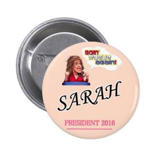 Sarah Palin President 2016 6 Cm Round Badge