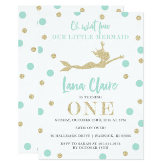 Sarah's Custom Mermaid Invitations