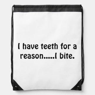 Sarcasm Drawstring Bag
