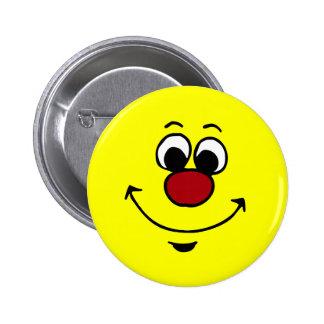 Sarcastic Smiley Face Grumpey 6 Cm Round Badge