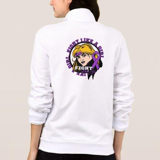 Sarcoidosis Fight Like A Girl Attitude T-shirts