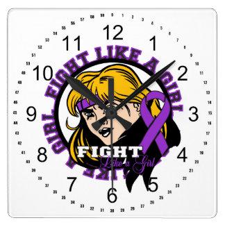 Sarcoidosis Fight Like A Girl Attitude Wall Clocks
