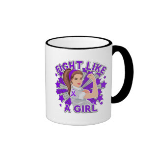 Sarcoidosis Modern Rosie Fight Like a Girl Ringer Mug