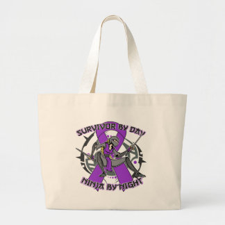 Sarcoidosis Survivor By Day Ninja By Night Canvas Bags