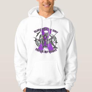Sarcoidosis Survivor By Day Ninja By Night Hooded Sweatshirts