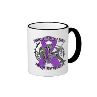 Sarcoidosis Survivor By Day Ninja By Night Ringer Mug