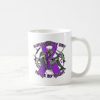 Sarcoidosis Survivor By Day Ninja By Night Basic White Mug