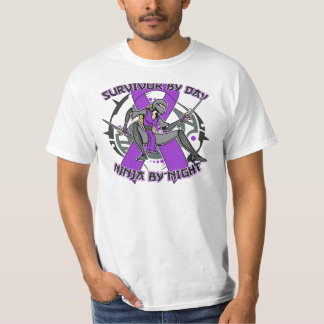 Sarcoidosis Survivor By Day Ninja By Night T-shirts