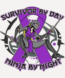 Sarcoidosis Survivor By Day Ninja By Night Tshirts
