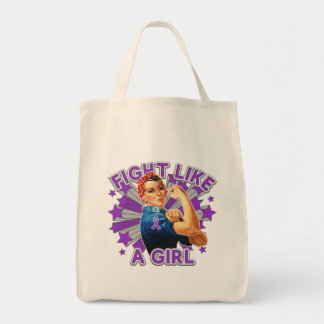 Sarcoidosis Vintage Rosie Fight Like A Girl Canvas Bag