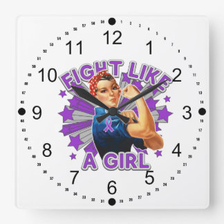 Sarcoidosis Vintage Rosie Fight Like A Girl Wall Clocks