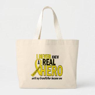 Sarcoma NEVER KNEW A HERO 2 Grandfather Jumbo Tote Bag