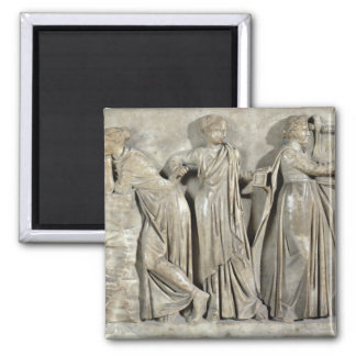 Sarcophagus of the Muses Square Magnet