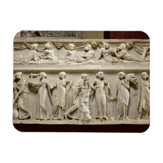 Sarcophagus of the Muses, Roman (marble) Rectangular Photo Magnet