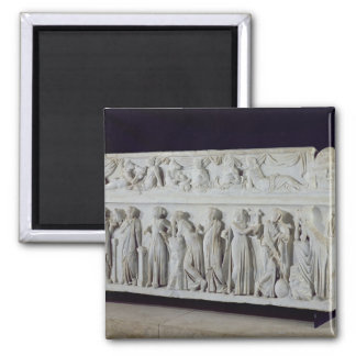 Sarcophagus with frieze of the Nine Muses Square Magnet