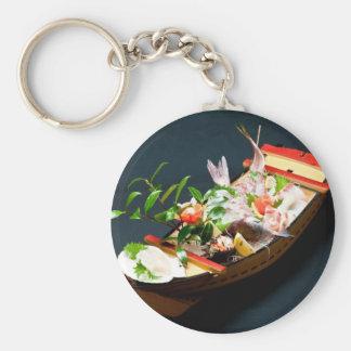 Sashimi Boat. Basic Round Button Key Ring