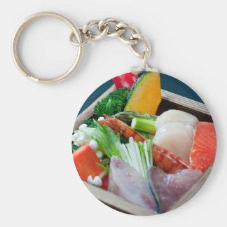 Sashimi in Japan, Japanese Cuisine Keychain