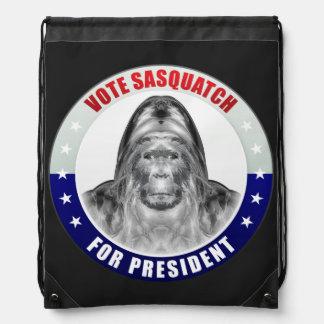 Sasquatch For President Drawstring Bag