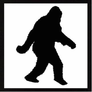 Sasquatch Squatchin' Silhouette Photo Cut Out